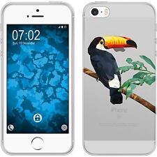 iPhone 5 / 5s / SE Funda de silicona animales de vectores M5 Case