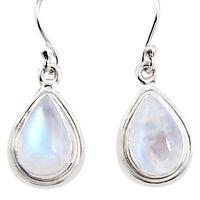 black friday sale 8.06cts natural rainbow moonstone dangle earrings p94345
