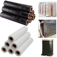 1 2 3 6 BLACK CLEAR STRETCH SHRINK PALLET WRAP PACKING 400MM CLING FILM