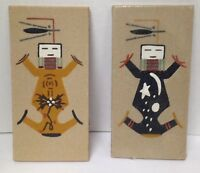 2 Native American Navajo Sand Paintings Mother Earth Father Sky G. Thompson