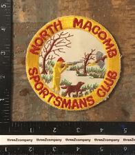 Vintage North Macomb Sportsman's Club Michigan Hunting Fishing Patch Twill