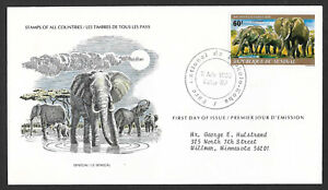 Senegal 1980 Elephant First Day Cover
