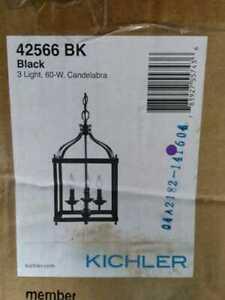 Larkin 3-Light Black Foyer Pendant Light by KICHLER