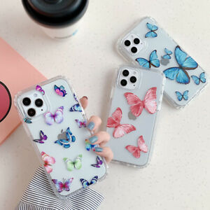 Creative Clear Butterfly Silicone Phone Case For iPhone 11 12 Pro Max 7 8 XS XR