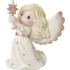 $ New Precious Moments Porcelain Figurine Rejoice Love Angel Star Pearl Halo