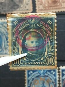 U.S. PHILIPPINES 10c Possession Stamp O.B .Encircled Official Stamp