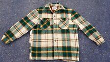 Vintage Woolrich Sherpa Fleece Lined Wool Jacket Coat Plaid Flannel Mens L