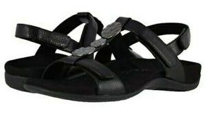 VIONIC Farra Black Patent Slingback Comfort Sandals Women's - SZ 5 - Wide     AA