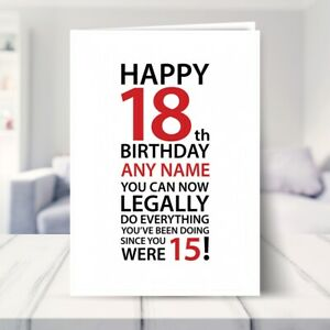 Personalised Happy 18th Birthday Card for Son Daughter Brother Sister Grandson