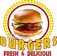 Burgers DECAL (Choose Your Size) Concession Food Truck Vinyl Sign Sticker
