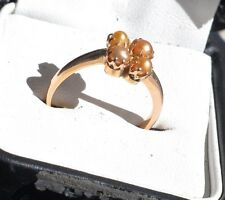 15ct Yellow Gold & 4 Seed Pearl Ring