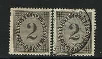 Portugal SC# 57, Mint Hinged and Used, both with Hinge/Page Remnant - S6626