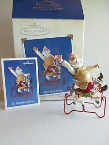 "Hallmark Toymaker Santa Series #4 ""TESTING THE NEW ROCKING HORSE"" - 2003"