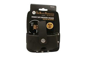 Large Tape Measure Holder / Holster In Black Oil Tanned Top Grain Leather