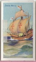 """Santa Maria"" Christopher Columbus Explorer Sailing Ship  85+ Y/O Trade Ad Card"