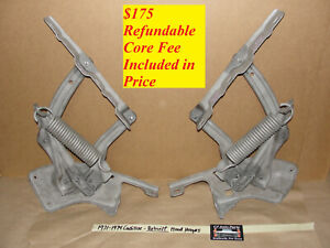1971 - 1974 Cadillac REBUILT HOOD HINGES WITH NEW RIVETS - LEFT & RIGHT