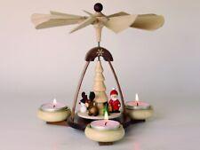 Teelichtpyramide Weihnachtsmotiv BxH=19,5x19,0cm Weihnachtspyramide NEU Holz