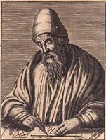 Portrait XVIIe Euclide Εὐκλείδης Euclid Mathematics Евклид 欧几里得 1670