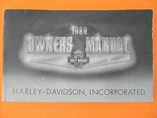 1989 Harley All Models Owner's Manual   Used   99466-89