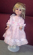 "Vintage 1983 Pat Secrist Dolls By Johannes Zook 13"" Tall Pretty Face Dress #467"
