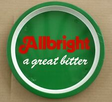 Allbright Bitter Vintage 1970's  Advertising Pub Bar Beer drinks tray Retro