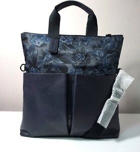 Coach Charles Floral Hawaiian Print Canvas and Leather Foldover Tote Bag F59304