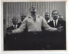 ROY DECARAVA African American Harry Belafonte stamped rare vintage silver print