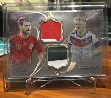2016 Futera Unique Versus Soccer Card Fabregas/Schweinsteiger 01/49