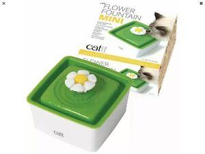 Catit Flower Fountain Mini 1.5L Drinking Bowl Filter Pad UK Plug Manual BNIB