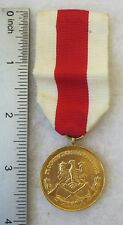 POLISH FIRE SERVICE MEDAL GOLD CLASS Post WW2 Made in POLAND COLD WAR Vintage