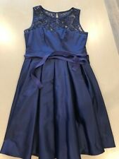Review Navy Blue Lace Fit n Flare Evening Cocktail Dress Size 12