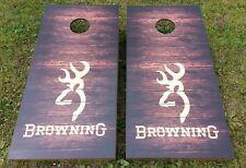 Browning Deer Head Corn Hole Boards - Bean Bag Toss Game