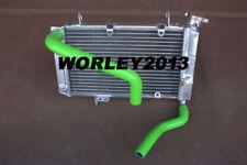 Aluminum radiator + green hose for SUZUKI LTZ400 & Kawasaki KFX400 03-08 ATV