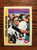 1978 Topps #120 Bob Griese Football Card Miami Dolphins HOF AFC All Pro Raw