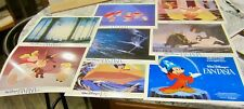 Disney Fantasia all 8 Lobby Cards, Photo, Poster 1980's Hippo, Mickey, and more