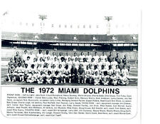ONLY UNDEFEATED NFL TEAM EVER 1972 MIAMI DOLPHINS 8X10  PHOTO  FOOTBALL