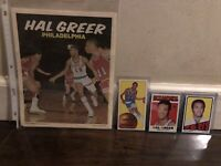 Huge Vintage 1970-1972 Topps Basketball Cards Posters Lot Postcard HOF Lot Of 16