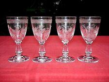 BACCARAT TREFLE  SHOT GLASS VERRE CAVE A LIQUEUR CRISTAL GRAVÉ 4360 ART NOUVEAU