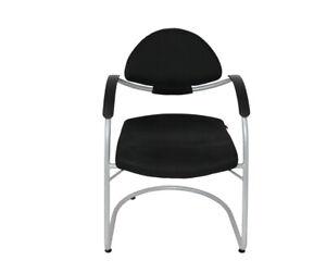 Sitag Besucherstuhl / Konferenzstuhl - Stoff schwarz - Gestell alusilber