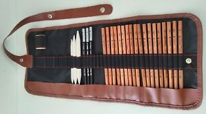 Professional Drawing Artist Kit Set Pencils and Sketch Charcoal Incomplete