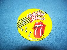 """Vintage 1983 Rolling Stones Tongue Button / Pin  3"""" by Musidor"""