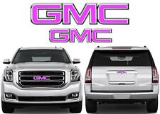 Pink Front & Rear Emblem Vinyl Overlays CUT TO FIT For GMC Trucks New USA