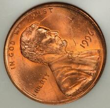 1996 ANACS MS63RD Rotated Double Struck Double Date Lincoln Cent Mint Error
