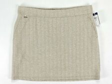 Ralph Lauren Polo Herringbone Golf Skort Skirt Taupe Cream Womens SZ XL NWT!!