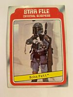1980 TOPPS STAR WARS FILE THE EMPIRE STRIKES BOBA FETT ROOKIE CARD #11