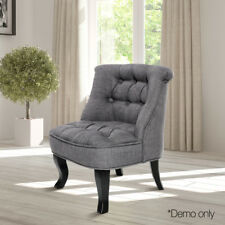 Artiss Kids Lorraine Chair Sofa Tub Couch Lounge French Occasional Fabric Grey