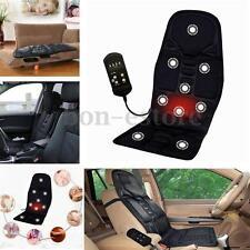 12V Car Massage Heated Seat Cushion Back Neck Pain Lumbar Massager Vibration Pad