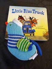 Blue BlaBla Bird Stuffed Animal Cotton Knit & Kids Book 'Little Blue Truck'