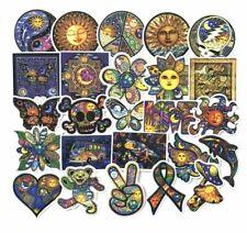 25 HIPPIE/PEACE/LOVE STICKERS-VINYL DECAL-SUN/MOON LAPTOP/SKATEBOARD-WATERPROOF