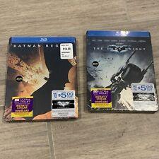 Batman Begins And Dark Knight Steelbooks (Blu-ray Disc, 2012) Best Buy Exclusive